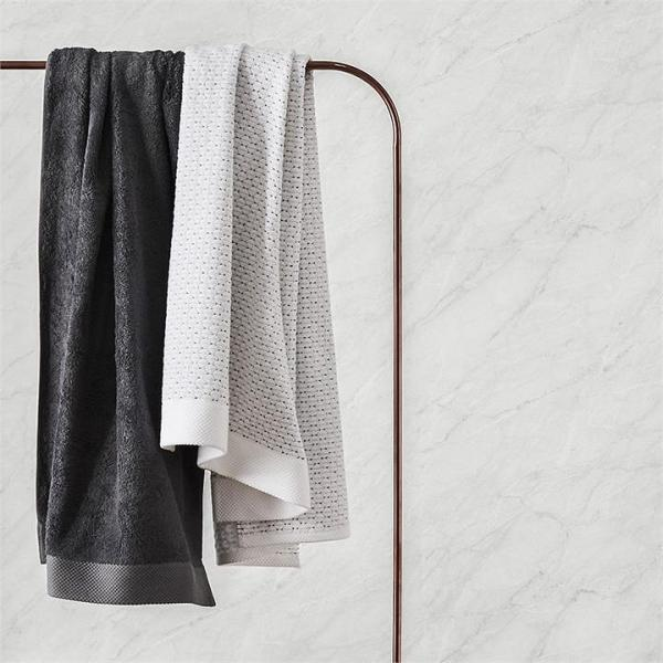 Home Republic Navara Cotton Bamboo Towels Hand Towel Solid Dove Grey - Soliddovegrey By Adairs