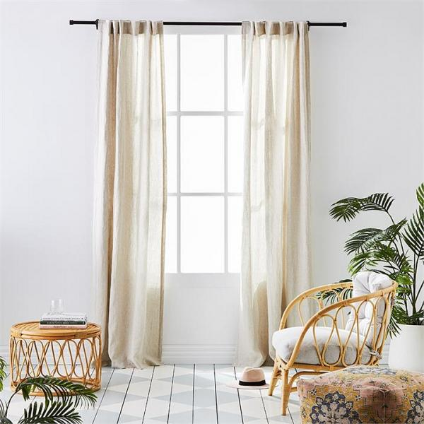Home Republic Vintage Washed Linen Curtains W125xL240cm Linen Set of 2 By Adairs