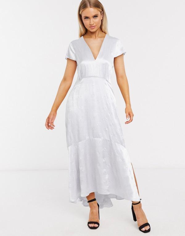 In Wear Rosemary bias cut midi dress in blue