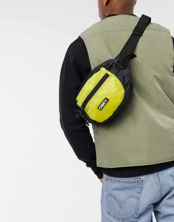 Obey Commuter waist bag in yellow
