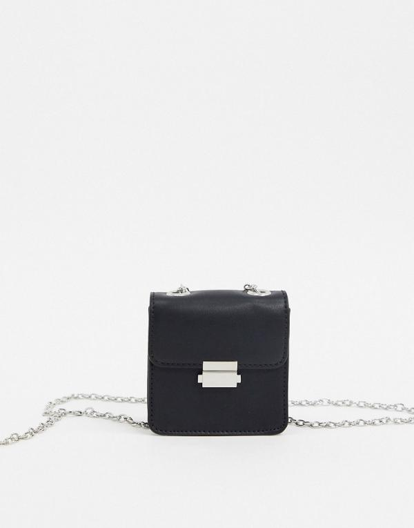 Who What Wear Balia cross body bag with chain strap in black