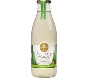 Aloe Vera Aloe Juice Natural 100% Pure Preservative Free (Glass) 1L