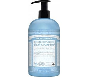Dr Bronner's Organic Pump Soap Baby Unscented 710ml