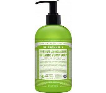 Dr Bronner's Organic Pump Soap Lemongrass Lime 355ml
