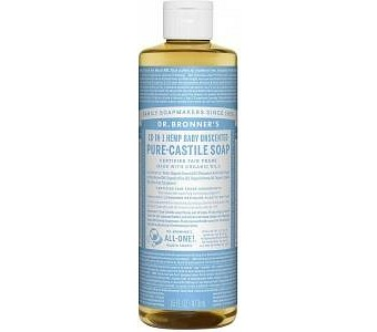 Dr Bronner's Pure Castile Liquid Soap Baby Unscented 473ml
