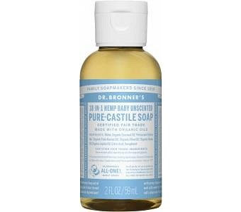 Dr Bronner's Pure Castile Liquid Soap Baby Unscented 59ml