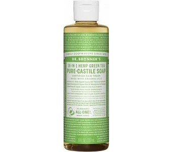Dr Bronner's Pure Castile Liquid Soap Green Tea 237ml