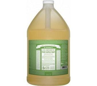 Dr Bronner's Pure Castile Liquid Soap Green Tea 3.78L