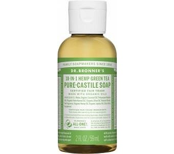 Dr Bronner's Pure Castile Liquid Soap Green Tea 59ml