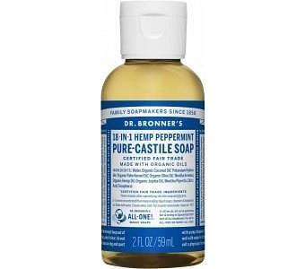 Dr Bronner's Pure Castile Liquid Soap Peppermint 59ml