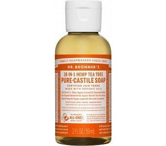 Dr Bronner's Pure Castile Liquid Soap Tea Tree 59ml