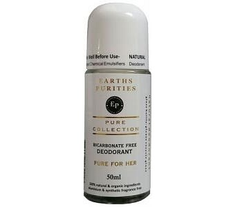 Earths Purities Pure Collection Natural Deodorant Roll On For Her 50g