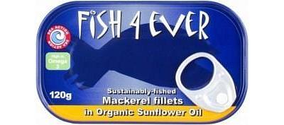 Fish 4 Ever Mackerel Fillets in Sunflower Oil 120g