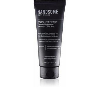 Handsome Men's Organic Skincare Facial Moisturiser Cedarwood/Bergamot/Aloe Vera 100ml
