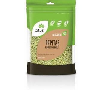Lotus Organic Pepitas(Pumpkin Kernels) Raw 500g
