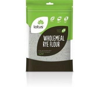 Lotus Rye - Wholemeal Flour 1kg