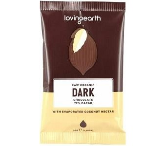 Loving Earth Raw Organic Dark Chocolate 16x30g