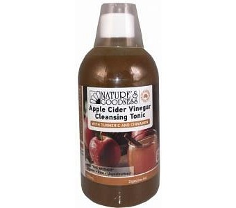 Natures Goodness Apple Cider Vinegar Cleansing Tonic with Turmeric & Cinnamon (The Mother) 500ml