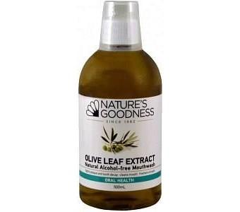Natures Goodness Olive Leaf Mouthwash 500ml