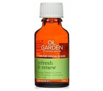 Oil Garden Refresh & Renew Pure Essential Oil Blends 25ml