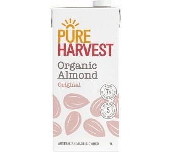 Pure Harvest Organic Activated Almond Milk Original 1ltr