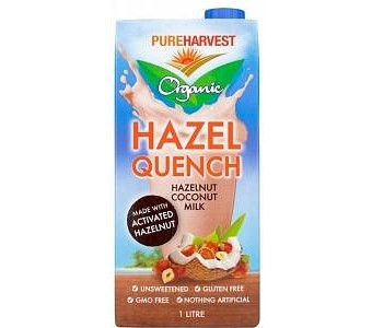 Pure Harvest Organic Hazel Quench Hazelnut Coconut Milk G/F 1L