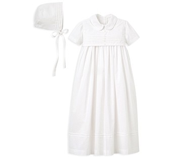 Elegant Baby Boys' Christening Gown & Bonnet Set - Baby