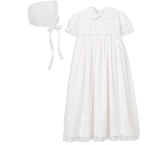 Elegant Baby Girls' Christening Gown & Bonnet Set - Baby