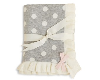 Elegant Baby Girls' Polka Dot Blanket