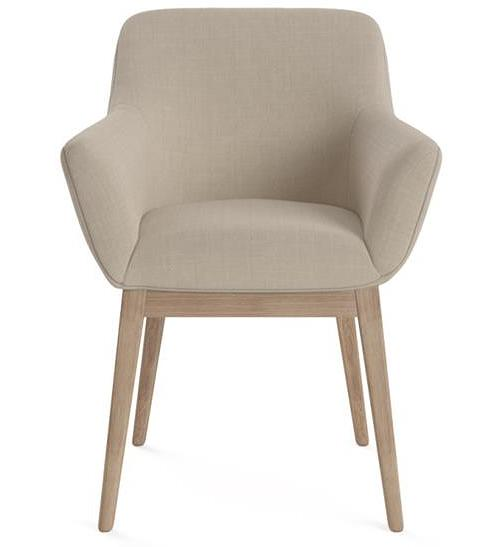 Albert Dining Chair French Beige Wire Brushed Solid Beech