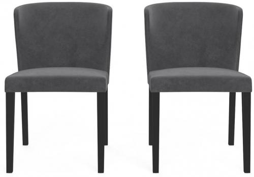 Bella Set of 2 Dining Chairs Cosmic Anthracite