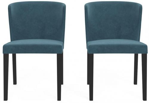 Bella Set of 2 Dining Chairs Peacock Teal