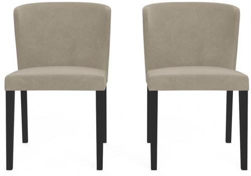 Bella Set of 2 Dining Chairs Putty Beige