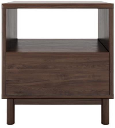 Cato Bedside Table One Drawer Autumn Brown Wood Autumn Brown Solid Birch
