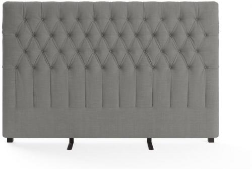 Emily King Size Bed Head Stone Grey