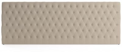 Emily Wide King Size Bed Head French Beige