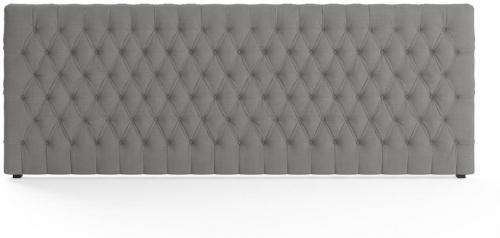 Emily Wide King Size Bed Head Stone Grey