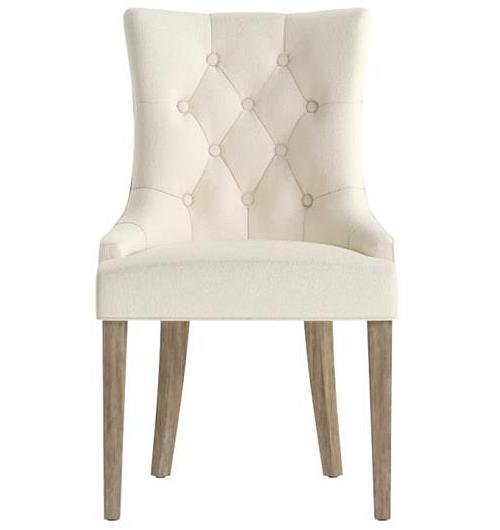 Espen Scoop Back Dining Chair Wire Brushed Solid Beech Classic Cream