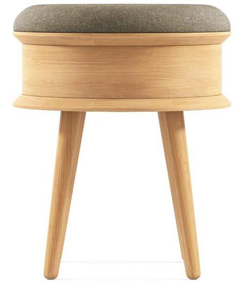 Ethan Stool with Seat Pad Beige