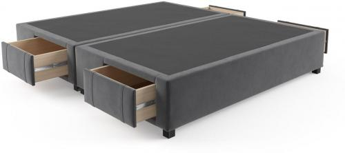 King Size Upholstered Bed Base with Drawers Cosmic Anthracite