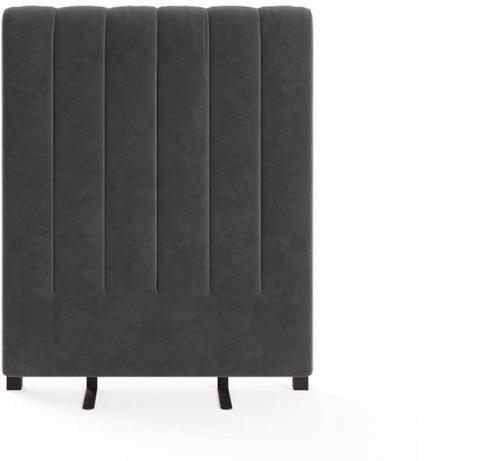 Megan Single Size Bed Head Cosmic Anthracite