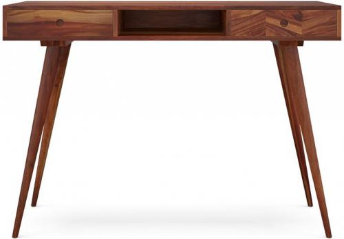 Potter Desk Early American Solid Walnut Acacia Wood