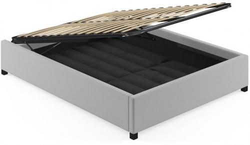 Queen Size Upholstered Gaslift Bed Base Cloud Grey
