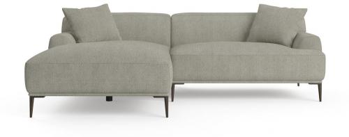Seta 4 Seater Sofa with Chaise Gainsboro Grey Left Chaise