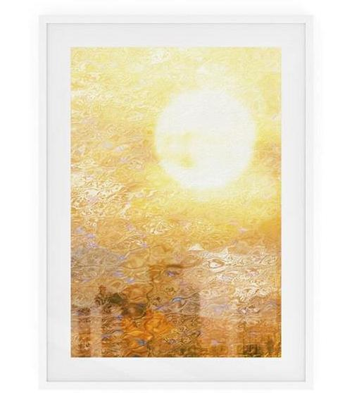 The City Sun Print White Wood Frame Small Midday