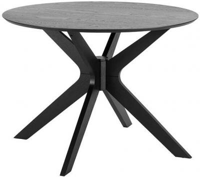 Milford Dining Table 105cm Dia Black by Freedom