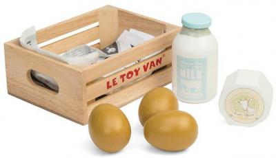 Le Toy Van Honeybake Eggs and Dairy Crate