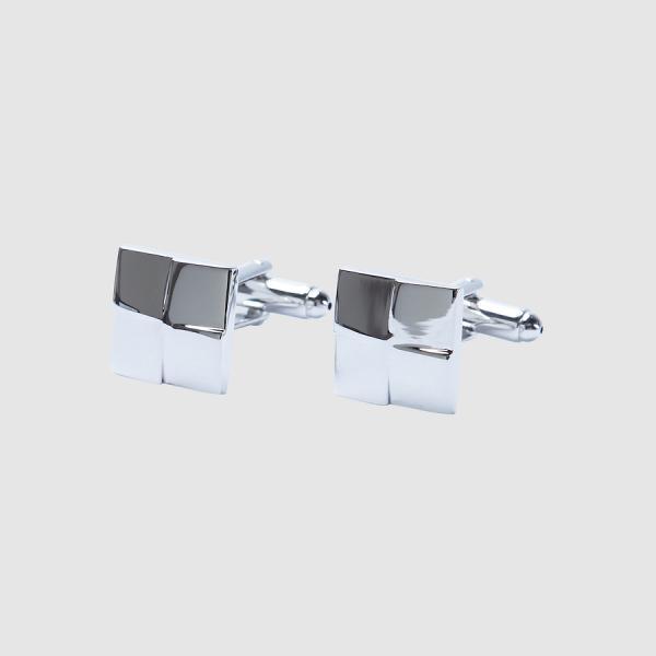 Tarocash Dudley Square Cufflink Silver 1