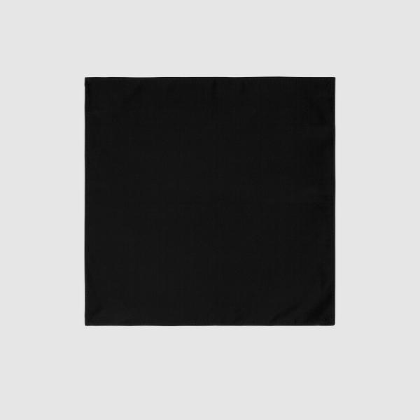 Tarocash Essential Pocket Square Black 1
