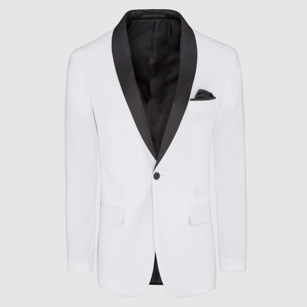 Tarocash Hector Shawl Collar Jacket White M